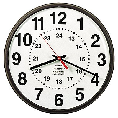 SKILCRAFT 12/24 Hour Wall Clock