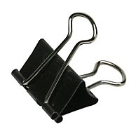 "BINDER CLIP, TEMPERED STEEL WIRE, 1/4"" CAPACITY, 12/BOX"