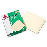 LIGHT-DUTY FILE FOLDER, 1/3 CUT, LETTER, MANILA, 100/BOX