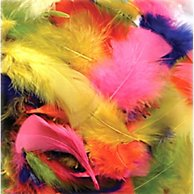 Bright Hues Feather Assortment, Bright Colors, 1 Oz Pack