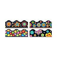"Terrific Trimmers Border, 2 1/4 X 39"", Bright On Black, Assorted, 48/set"