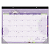 At-A-Glance Paper Flowers Calendar Desk Pad