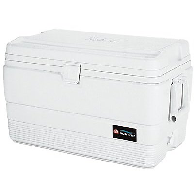54 QUART WHITE MARINE ICE CHEST