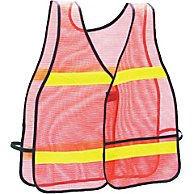 High Visibility Vest - One Size Fits All, Orange with Reflective Tape