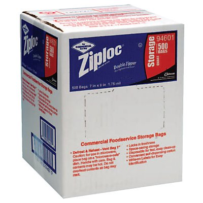 CASE/500 ZIPLOCK BAGS QUART STORAGE
