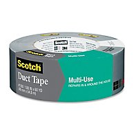 "Scotch Multi-Use Duct Tape - 1.89"" Width x 60.15 yd Length - 1 Roll - Silver"