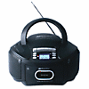 AmpliVox Top-Loading CD/AM/FM Tuner Boom Box, Black - 1 x Disc - 2.4 W Integrated Stereo Speaker - Black LCD - MP3, WMA, CD-DA - 108 MHz, 1600 kHz - SD - USB - Auxiliary Input