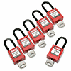 SKILCRAFT Keyed-alike Lockout Padlocks - Keyed Alike - Thermoplastic Body - Red