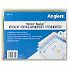 "Anglers Kleer-Kolor Poly File Folders - Letter - 8 1/2"" x 11"" Sheet Size - Polypropylene - Assorted - 5 / Pack"