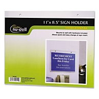 Clear Plastic Sign Holder, Wall Mount, 11 X 8 1/2