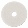 STANDARD 14-INCH DIAMETER POLISHING FLOOR PADS, WHITE, 5/CARTON