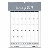 Monthly Wall Calendar, 12 X 17, White, 2017